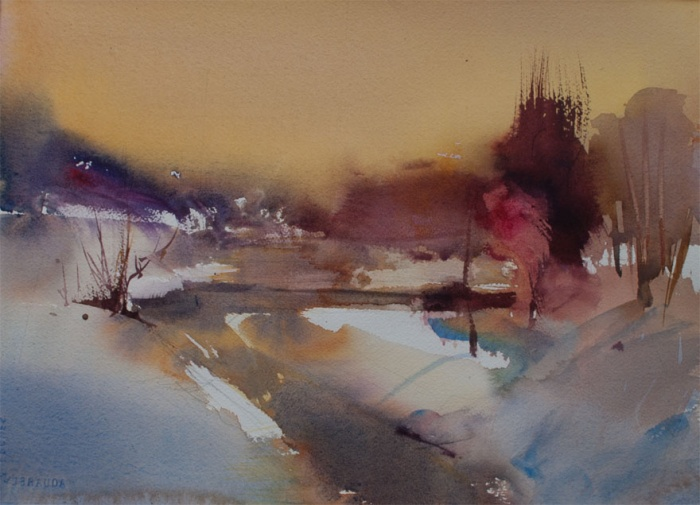Watercolour Landscape from Imagination