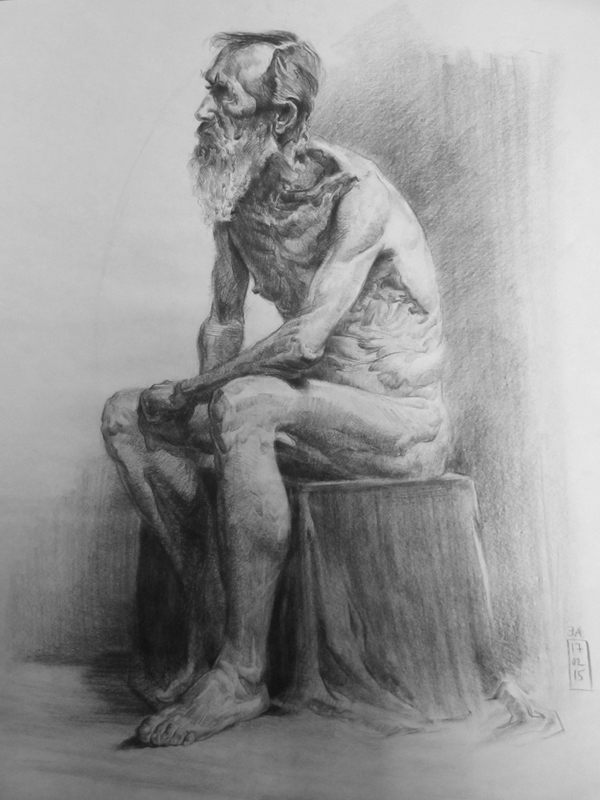Master Study after an unknown Russian artist
