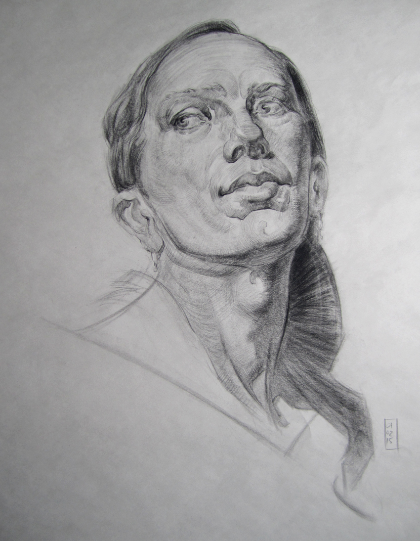 Portrait Study after an unknown Russian artist